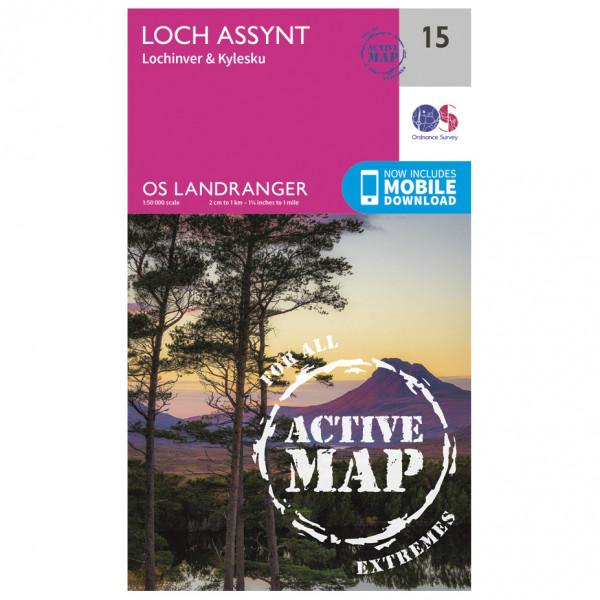 Ordnance Survey - Loch Assynt Waterproof - Mapa de senderos