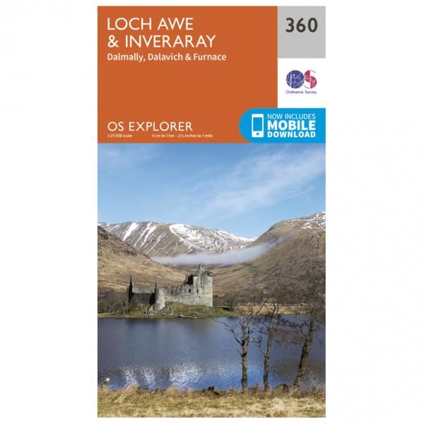 Ordnance Survey - Loch Awe / Inveraray EXP360 - Wanderkarte