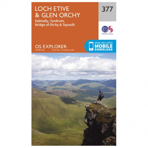 Ordnance Survey - Loch Etive / Glen Orchy - Vandringskartor