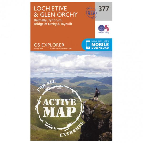Ordnance Survey - Loch Etive / Glen Orchy Waterproof - Wandelkaarten