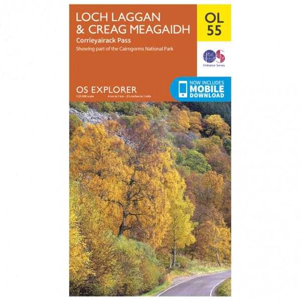 Ordnance Survey - Loch Laggan / Creag Meagaidh / Corrieyairack Outdoor EGMOL055 - Wanderkarte