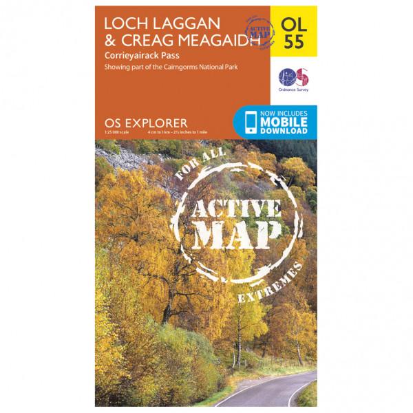 Ordnance Survey - Loch Laggan / Creag Meagaidh Waterproof EXPL055 - Wanderkarte