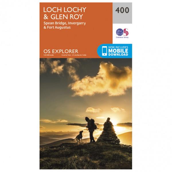 Ordnance Survey - Loch Lochy / Glen Roy - Vandrekort