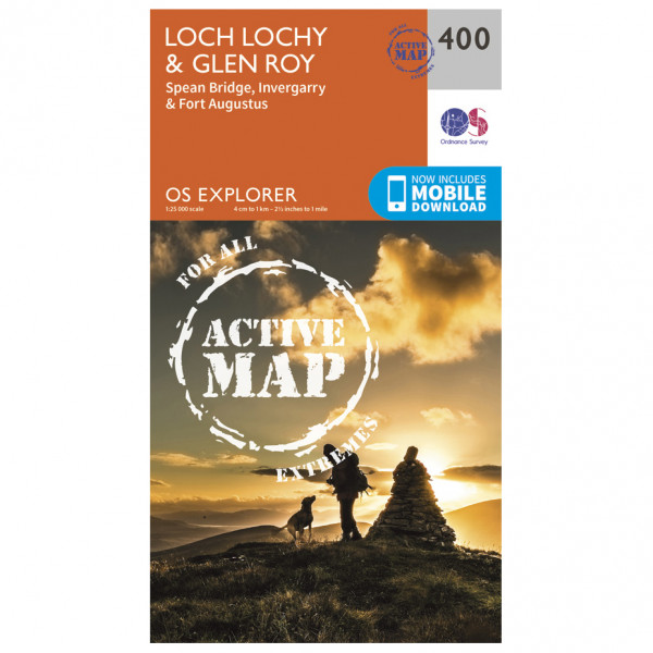 Ordnance Survey - Loch Lochy / Len Roy Waterproof - Hiking map