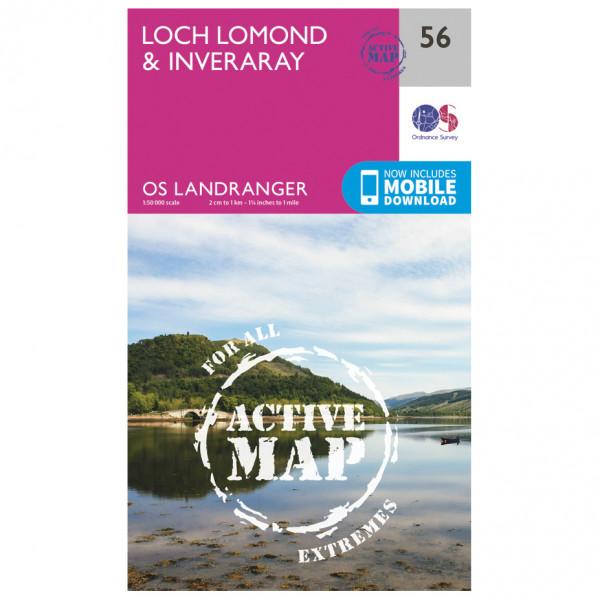 Ordnance Survey - Loch Lomond & Inverary Waterproof - Vaelluskartat