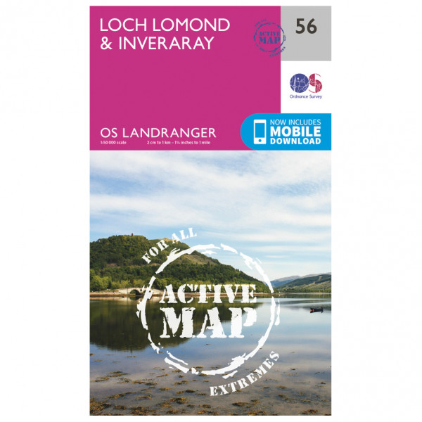 Ordnance Survey - Loch Lomond & Inverary Waterproof - Vandrekort