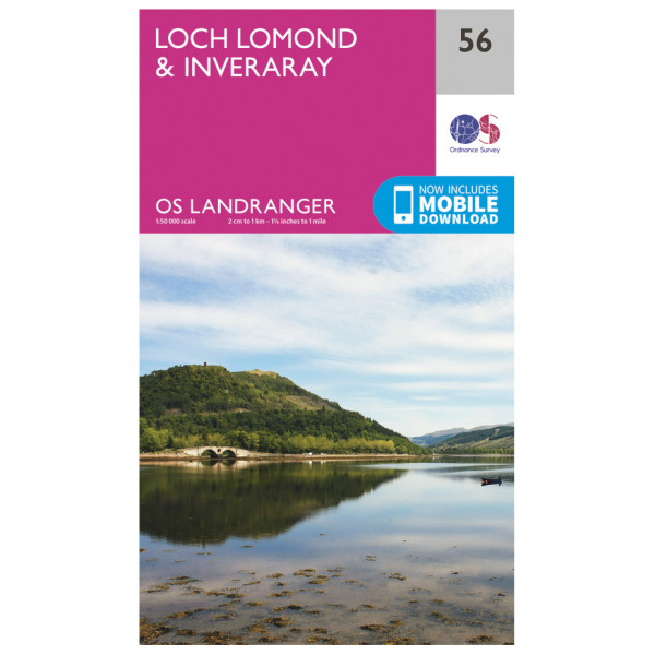 Ordnance Survey - Loch Lomond / Inveraray - Vandrekort