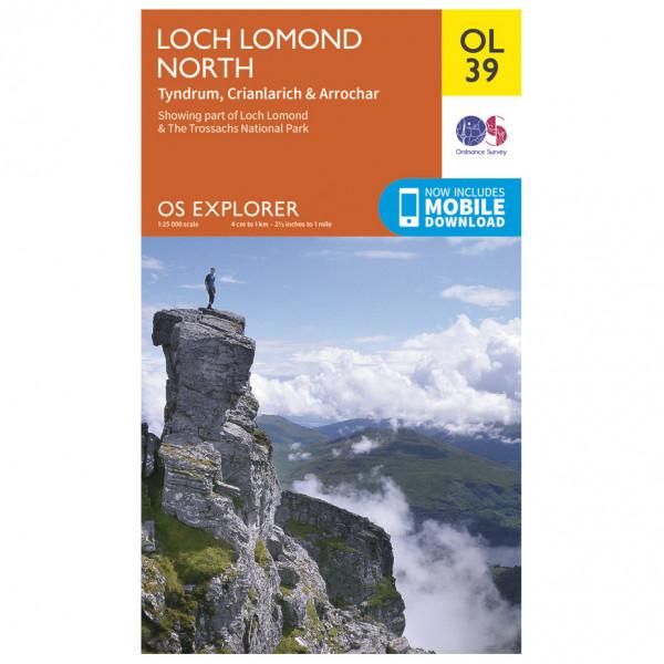 Ordnance Survey - Loch Lomond North / Tyndrum Outdoor - Vandrekort