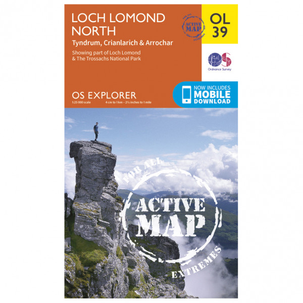 Ordnance Survey - Loch Lomond North / Tyndrum Waterproof - Mapa de senderos