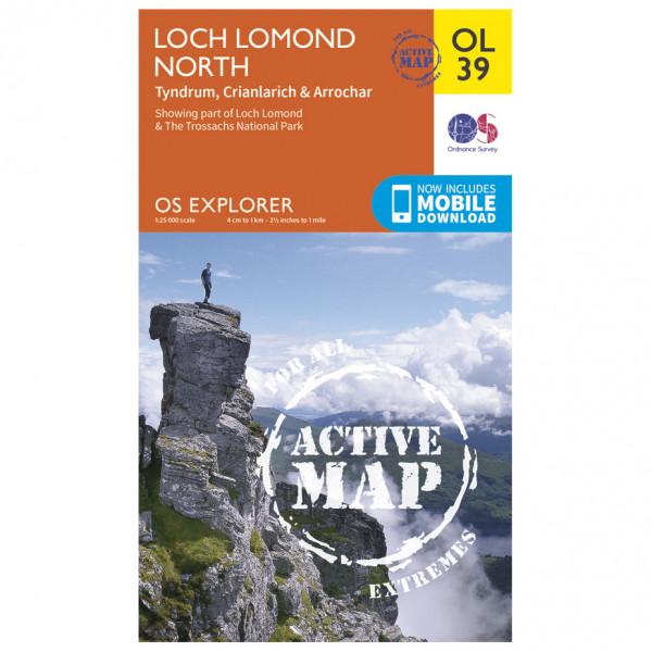 Ordnance Survey - Loch Lomond North / Tyndrum Waterproof - Vaelluskartat