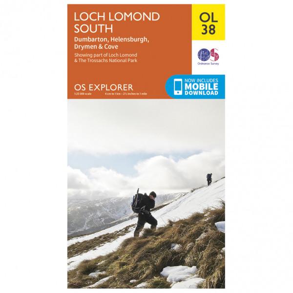 Ordnance Survey - Loch Lomond South / Dumbarton Outdoor - Vandrekort