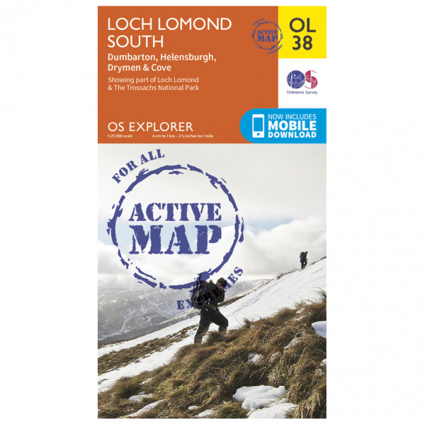Ordnance Survey - Loch Lomond South / Dumbarton Waterproof - Hiking map