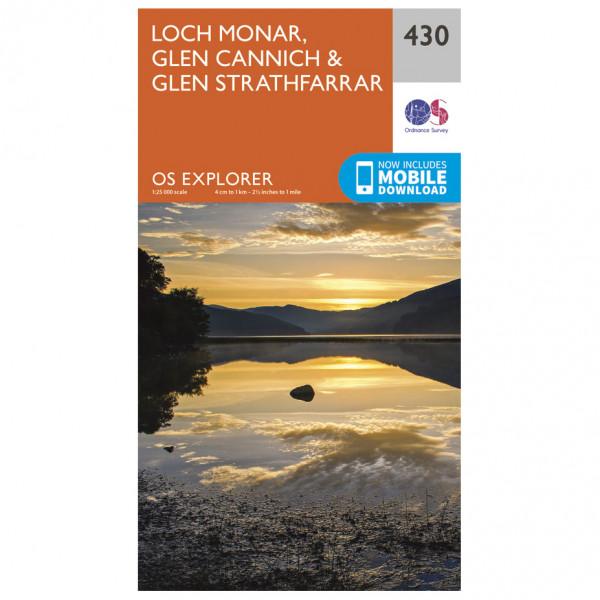 Ordnance Survey - Loch Monar / Glen Cannich / Glen Strathfarrar EXP430 - Wanderkarte