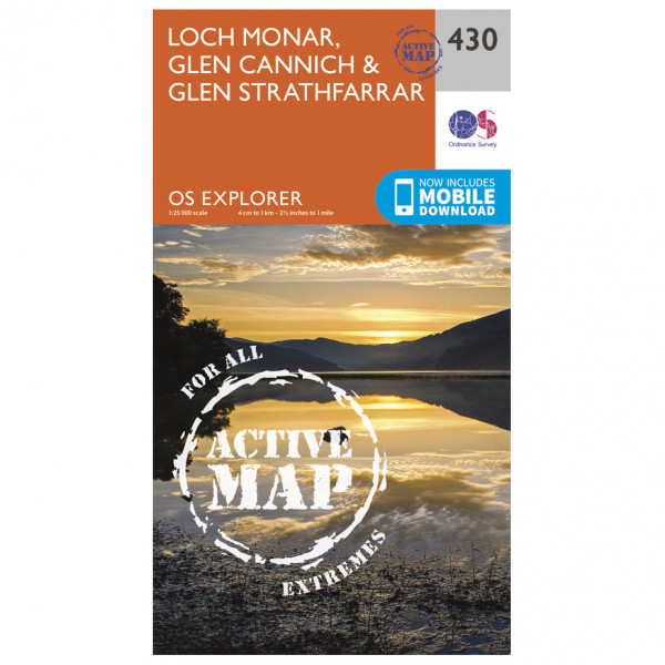 Ordnance Survey - Loch Monar / Glen Cannich Waterproof - Carte de randonnée