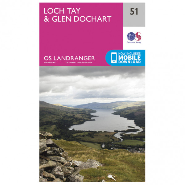 Ordnance Survey - Loch Tay / Glen Dochart - Hiking map