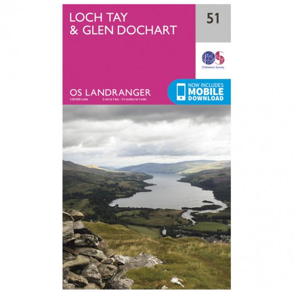 Ordnance Survey - Loch Tay / Glen Dochart - Wandelkaart