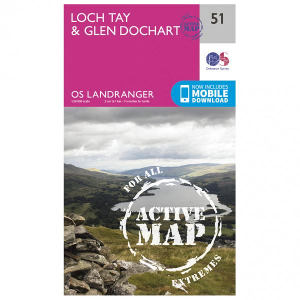 Ordnance Survey - Loch Tay / Glen Dochart Waterproof - Hiking map