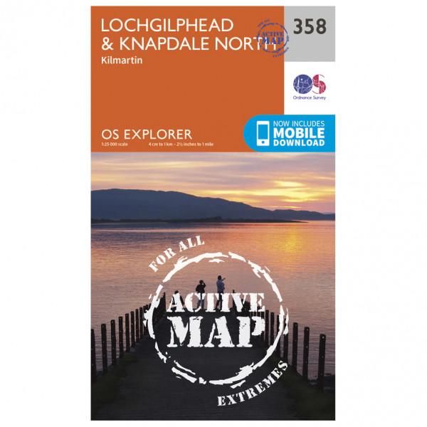 Ordnance Survey - Lochgilphead / Knapdale North Waterproof - Vandringskartor