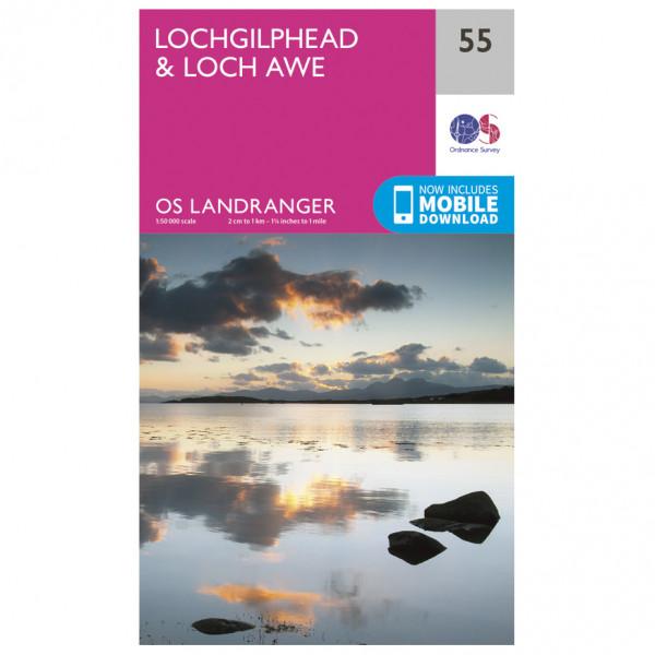 Ordnance Survey - Lochgilphead / Loch Awe - Hiking map