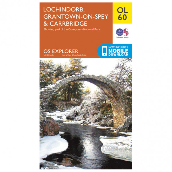 Ordnance Survey - Lochindorb / Grantown-On-Spey Outdoor EGMOL060 - Wanderkarte