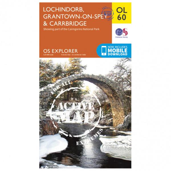 Ordnance Survey - Lochindorb / Grantown-On-Spey Waterproof - Wandelkaarten