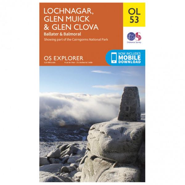 Ordnance Survey - Lochnagar / Glen Muick / Glen Clova Outdoor - Vandringskartor
