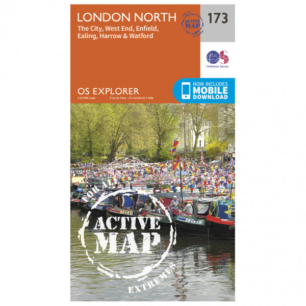 Ordnance Survey - London North / The City / West End Waterproof - Hiking map