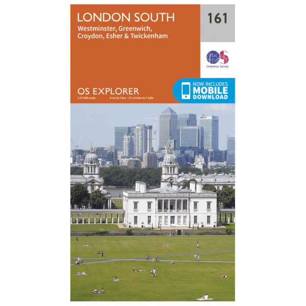 Ordnance Survey - London South (Greenw.M) - Mapa de senderos