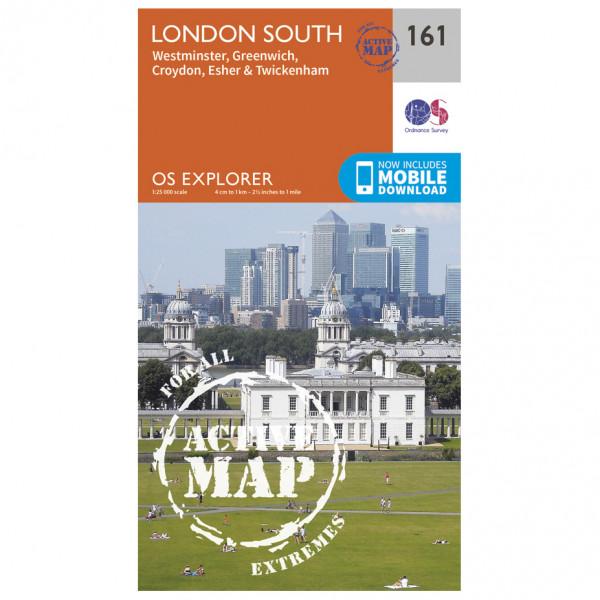 Ordnance Survey - London South / Westminster / Greenwich Waterproof - Vandringskartor