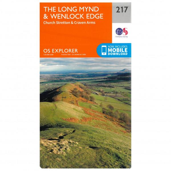 Ordnance Survey - Long Mynd / Wenlock Edge - Mapa de senderos