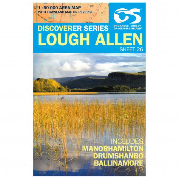Ordnance Survey - Lough Allen - Mapa de senderos