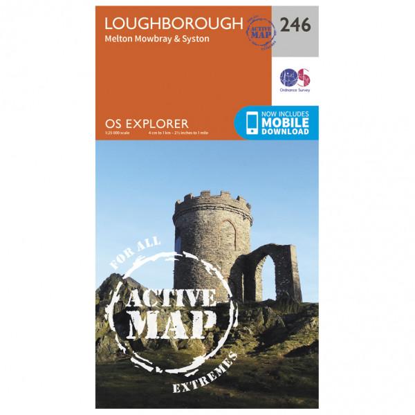 Ordnance Survey - Loughborough / Melton Mowbray / Syston Waterproof - Wandelkaart
