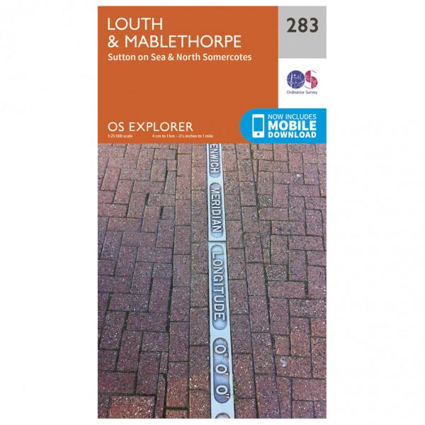 Ordnance Survey - Louth / Mablethorpe EXP283 - Wanderkarte