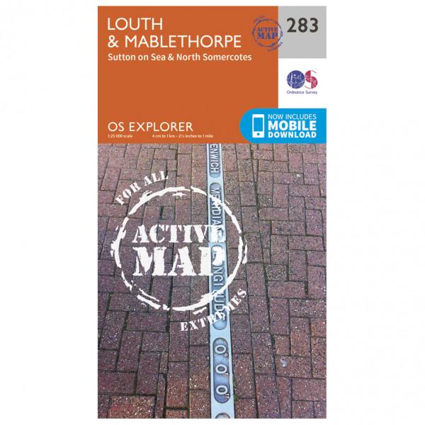 Ordnance Survey - Louth / Mablethorpe Waterproof - Vandringskartor