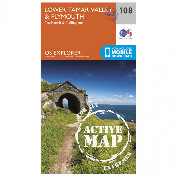 Ordnance Survey - Lower Tamer Valley / Plymouth Waterproof - Hiking map