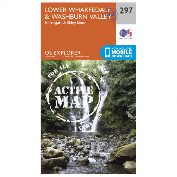 Ordnance Survey - Lower Wharefedale / Washburn Valley Waterproof - Vandringskartor