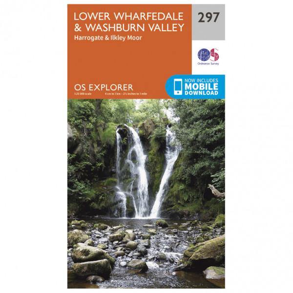 Ordnance Survey - Lower Wharfedale / Washburn Valley - Mapa de senderos
