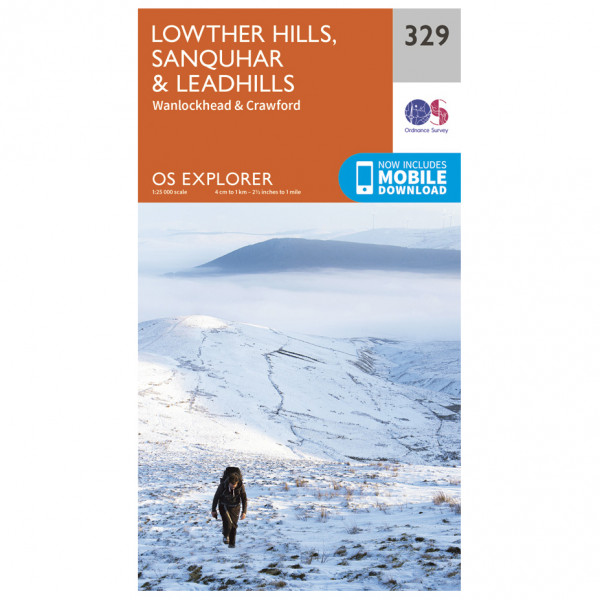 Ordnance Survey - Lowther Hills / Sanquhar / Leadhills - Hiking map