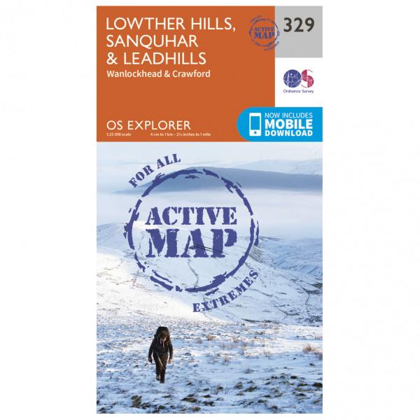 Ordnance Survey - Lowther Hills / Sanquhar / Leadhills Waterproof - Vandringskartor