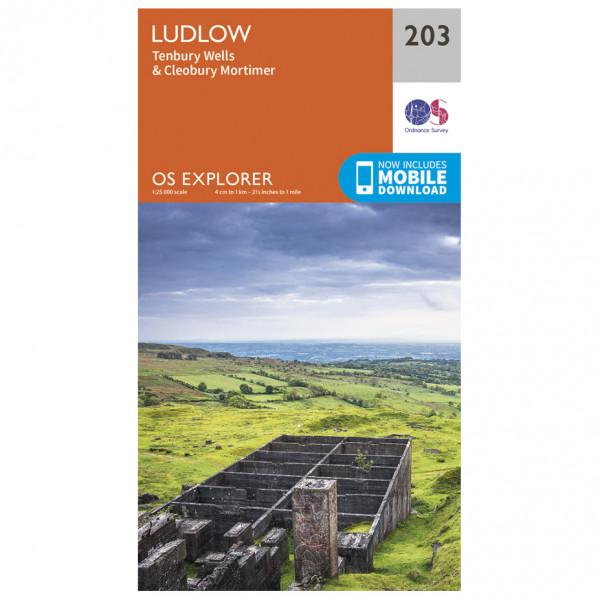 Ordnance Survey - Ludlow - Wanderkarte