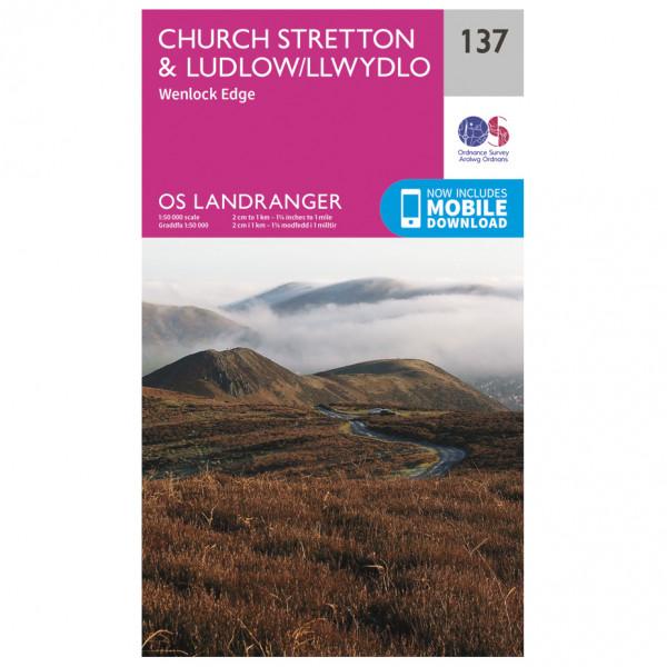 Ordnance Survey - Ludlow / Church Stretton - Vandrekort