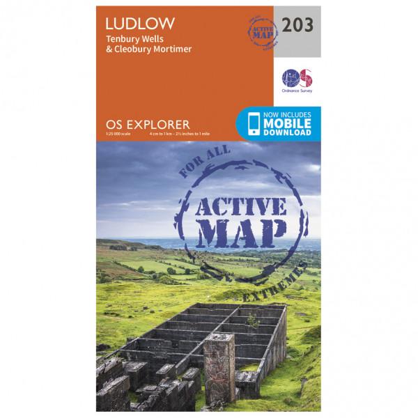 Ordnance Survey - Ludlow / Tenbury Wells / Cleobury Mortimer Waterproof - Vandrekort