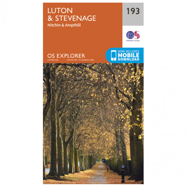 Ordnance Survey - Luton / Stevenage - Vaelluskartat