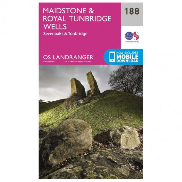 Ordnance Survey - Maidstone / Royal Tunbridge Wells - Hiking map