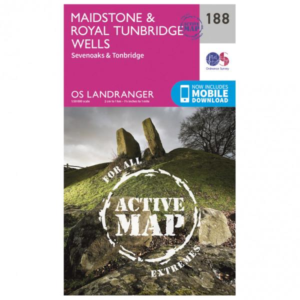 Ordnance Survey - Maidstone / Royal Tunbridge Wells Waterproof - Vandringskartor