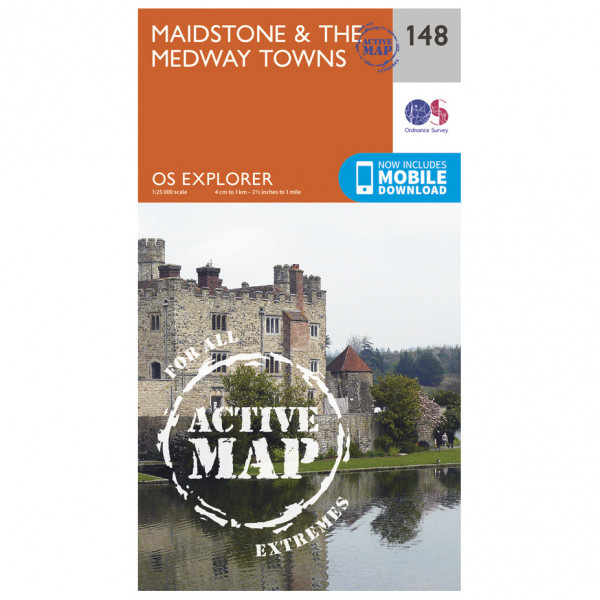 Ordnance Survey - Maidstone / The Medway Towns Waterproof - Hiking map
