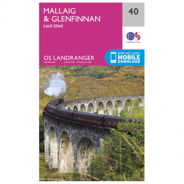 Ordnance Survey - Mallaig / Glenfinnan - Vandrekort