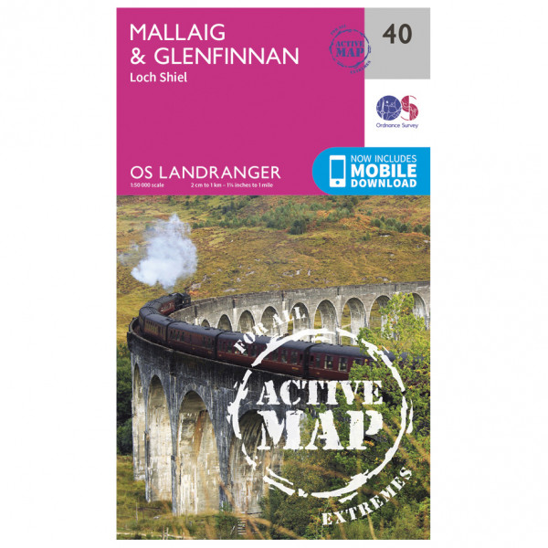 Ordnance Survey - Mallaig / Glenfinnan Waterproof - Hiking map