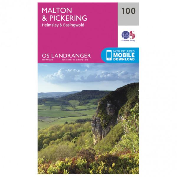 Ordnance Survey - Malton / Pickering L100 - Wanderkarte