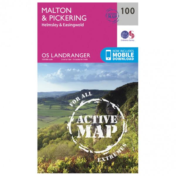 Ordnance Survey - Malton / Pickering Waterproof LA100 - Wanderkarte
